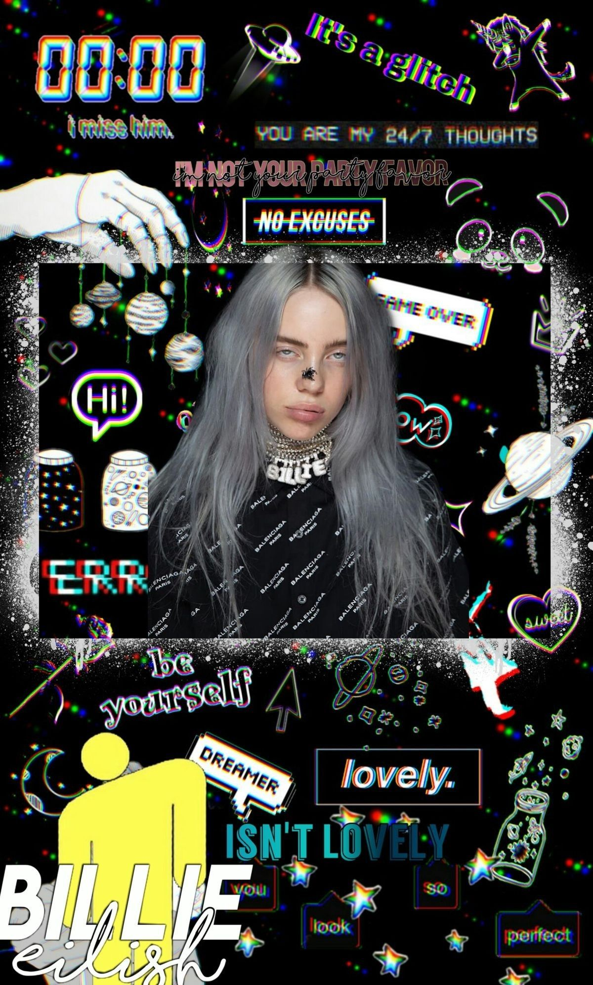 Black Wallpaper Billie Billie Eilish Iphone Wallpaper