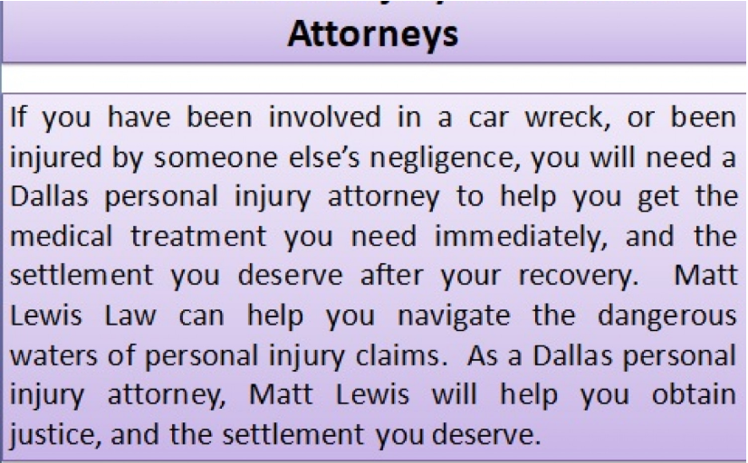 Matt Lewis Law P C Is Located In Dallas Tx And Serves Clients In And Around Dallas Matt Lewis Personal Injury Attorney Social Security Disability Benefits