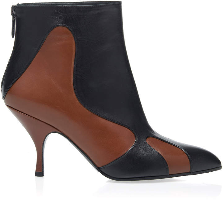 Bottega Veneta Flame Paneled-Leather Ankle Boots ul63Y4