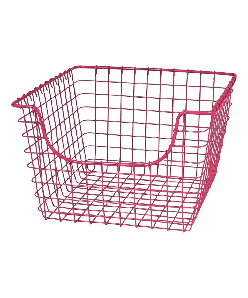 Another great find on #zulily! 12\'\' Fuchsia Scoop Basket by Spectrum ...