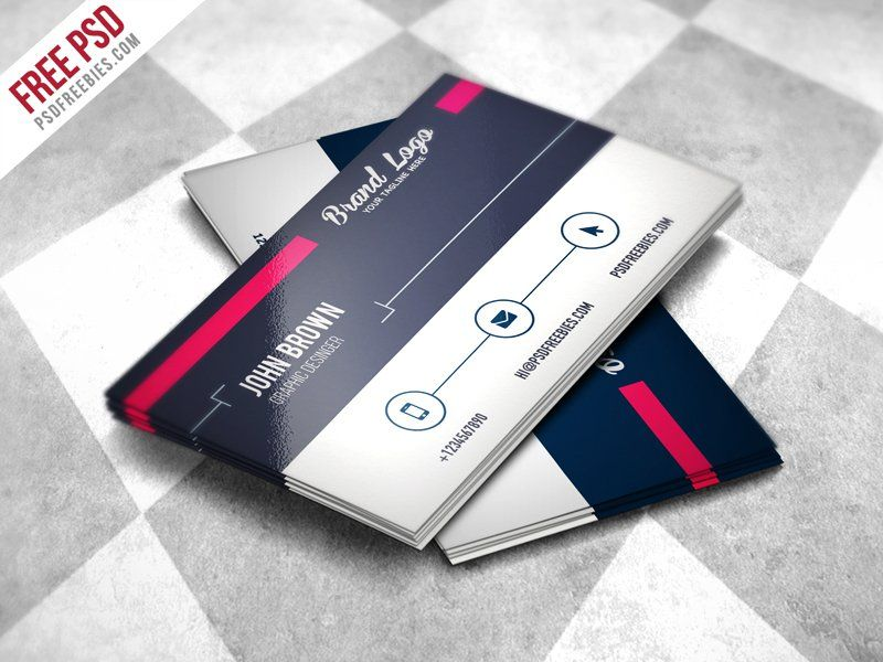 Modern Business card Design Template PSD | Lugares para visitar ...
