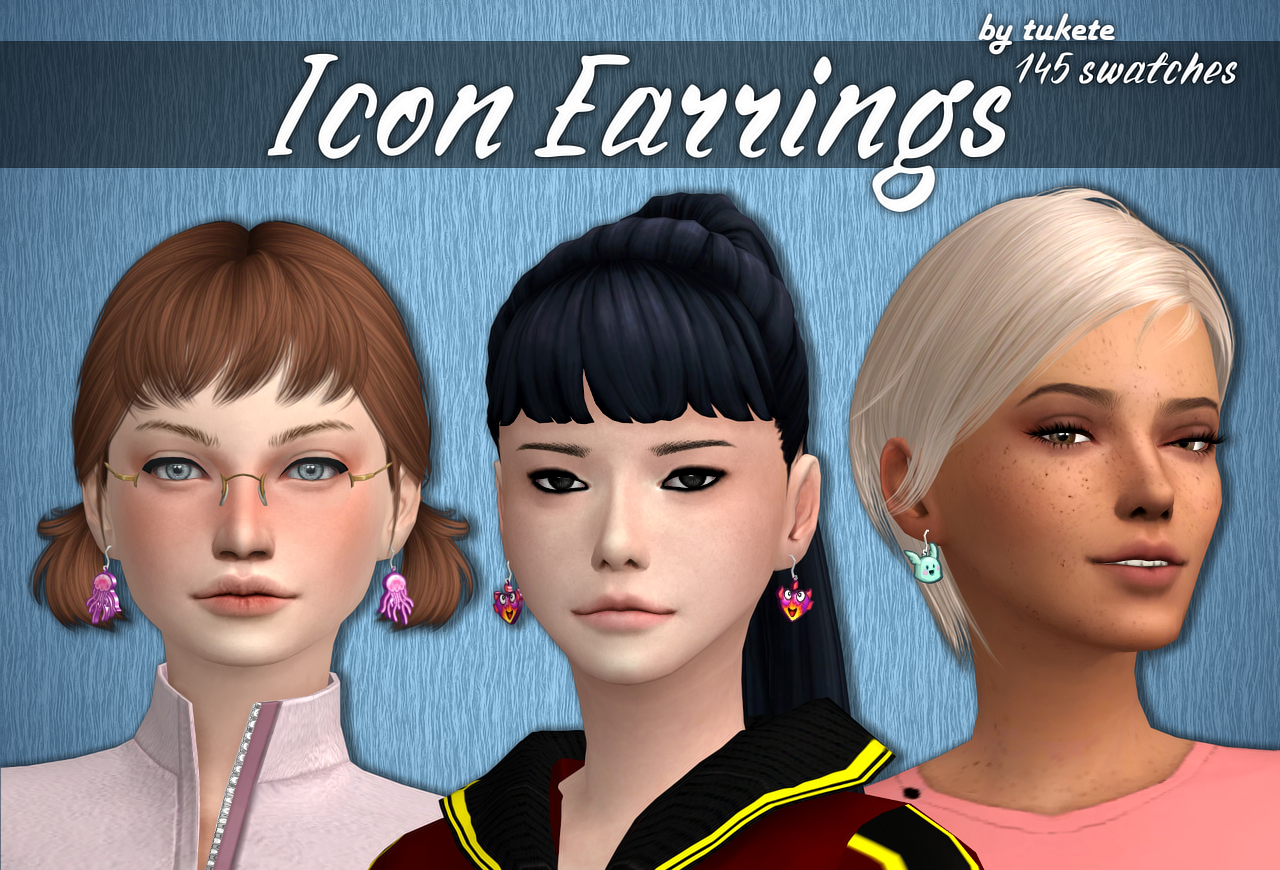 Icon Earrings Funny Earrings Icon Wilted Rose