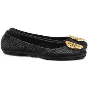 Tory Burch Minnie leather ballerinas How Much Sale Online ObKjqlgf6U