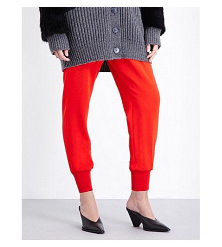 STELLA MCCARTNEY Julia Loose-Fit Crepe Trousers. #stellamccartney #cloth #trousers