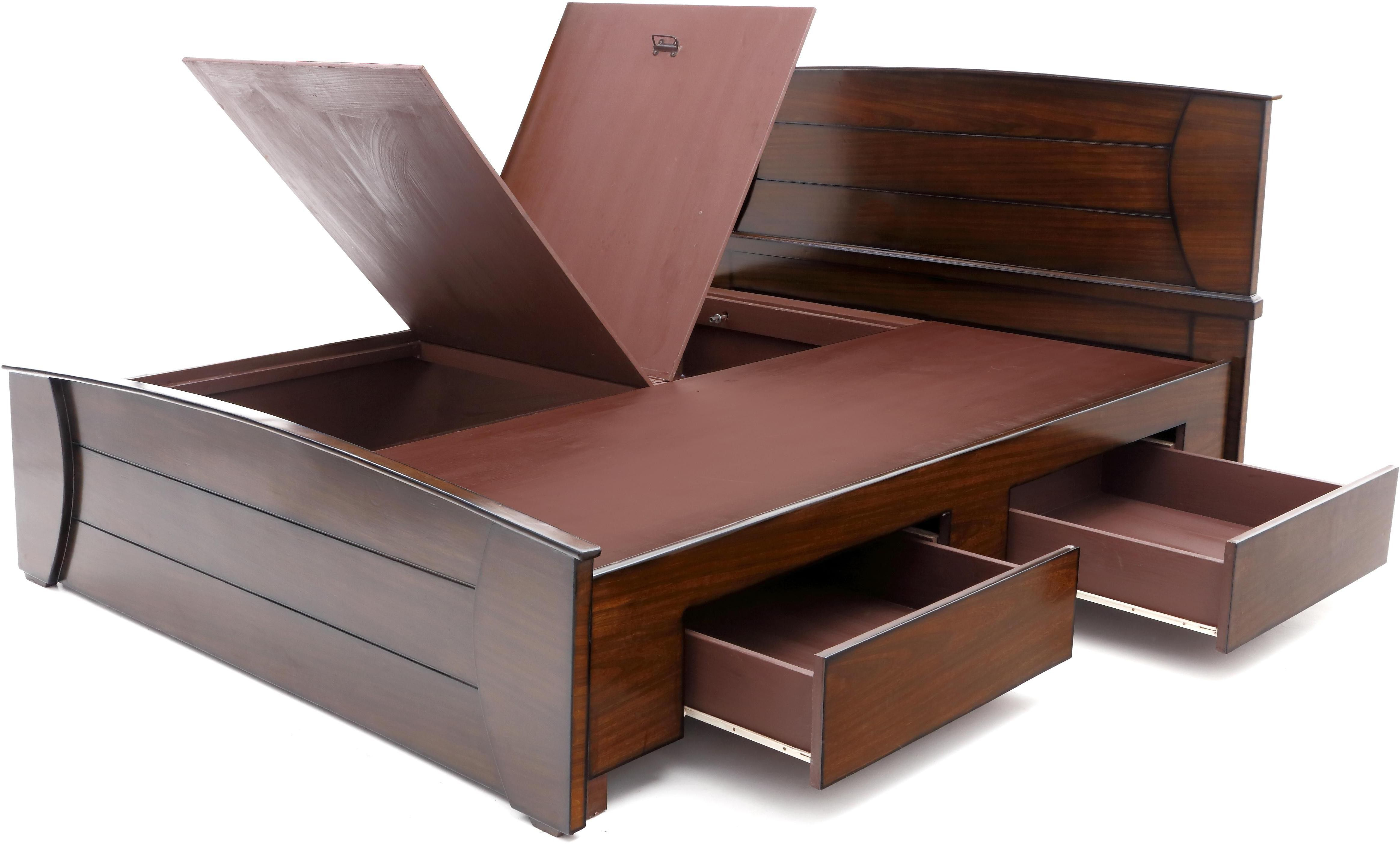Furnicity Engineered Wood King Bed With Storage Price In India Buy Furnicity Engineered Wood Kin Wooden Bed With Storage Wooden Bed Design Bedroom Bed Design