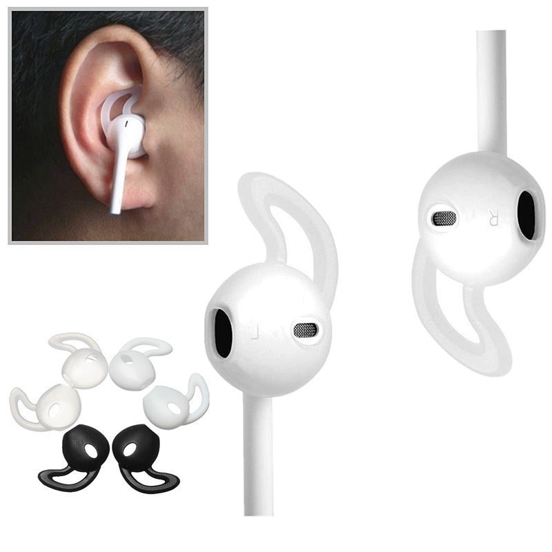 Soft Silicone Hooks Ear Muffs Earphone Case Cover For Iphone 7 7plus Apple Airpods Three Color Choice Iphoneairpods Earphone Case Iphone Cases Iphone Earbuds