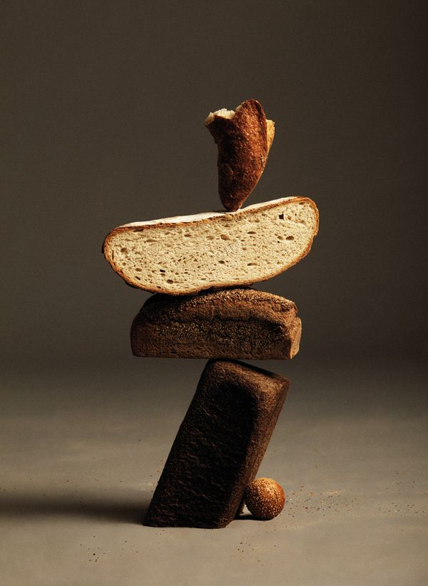 Ana Dominguez and Omar Sosa conceived this remarkable idea of a balancing bread act for Apartamento magazine.