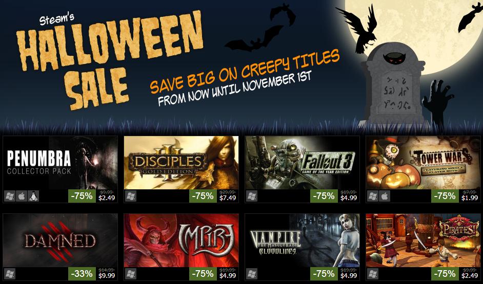 Steam Halloween Sale Halloween sale, Halloween, Steam