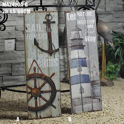 Nautical Decor Rustic Wood Sign Plaque Wall Art Picture Anchor Design A Rustic Wood Signs Wood Home Decor Nautical Decor