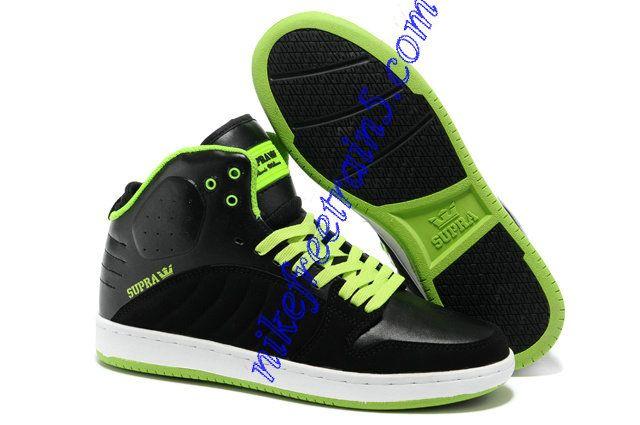 Supra S1W Black Suede Neon Green Shoes Cheap For Sale  e514fe1102