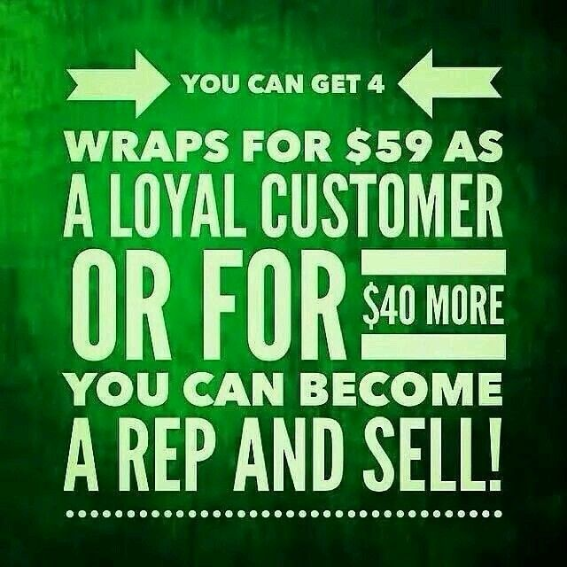 This opportunity has been a blessing! You wrap people, they buy, repeat, you make $$. It's that simple.   Join my Team today @ www.wrapswithandria.com  Wanna know more, watch the video when you visit my website and click join.