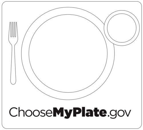 Myplate Coloring Pages To Use Coloring Pages Healthy Habits For Kids My Plate