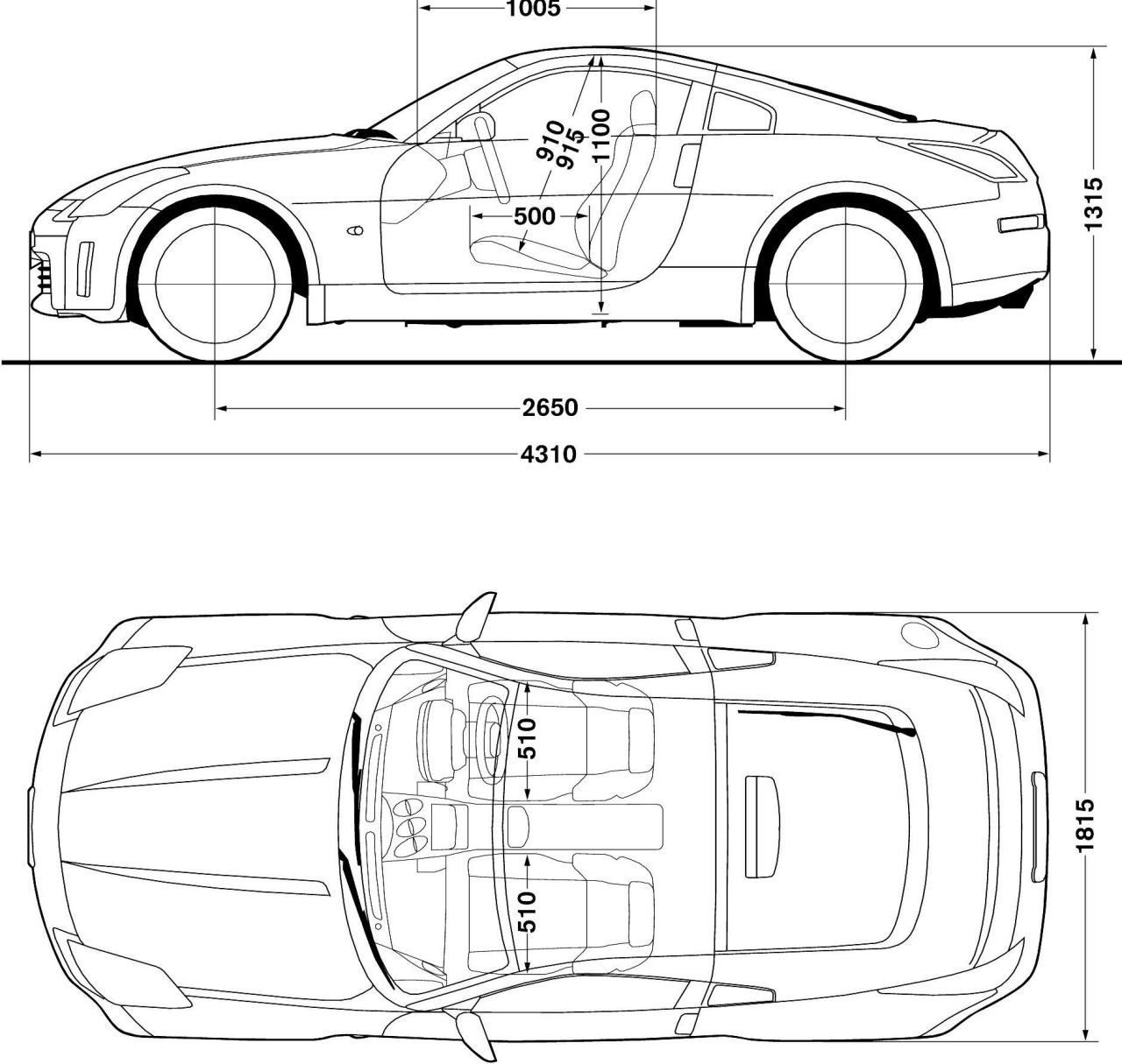 Nissan 350Z blueprint | Auto | Pinterest | Nissan 350Z, Nissan and Cars