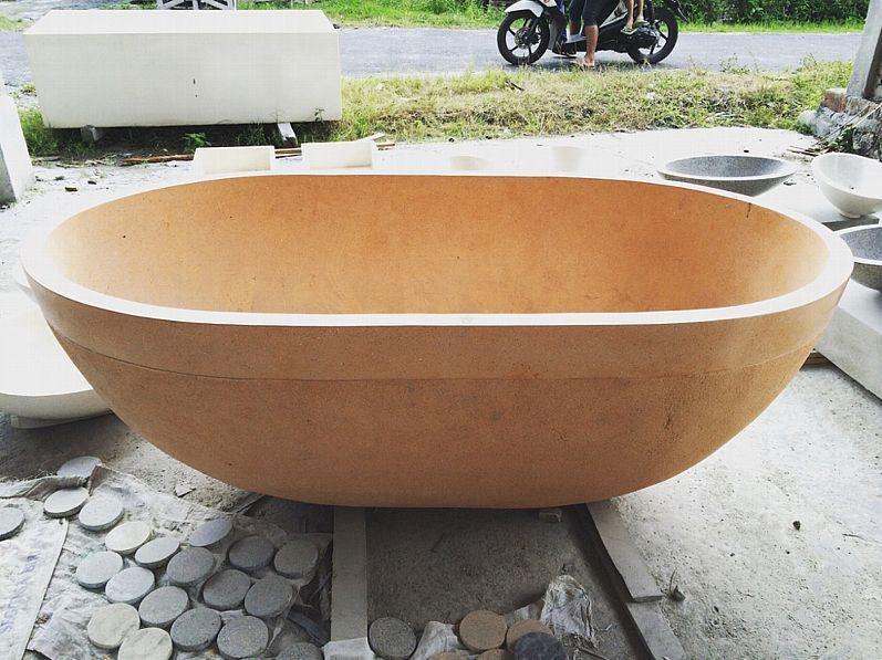 Badewanne Freistehende Wanne Steinwanne Badetopf Badewannen Spa Terrazzo Stein