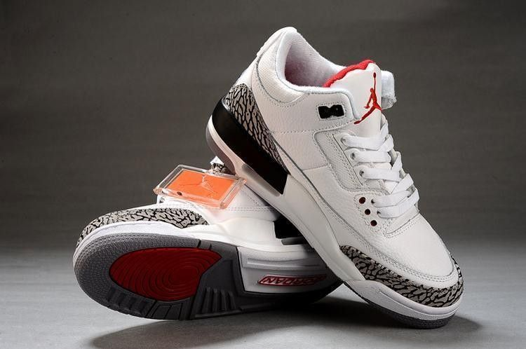 Nike Air Jordan 3 Retro Dames Schoenen in Wit Outlet Factory ...