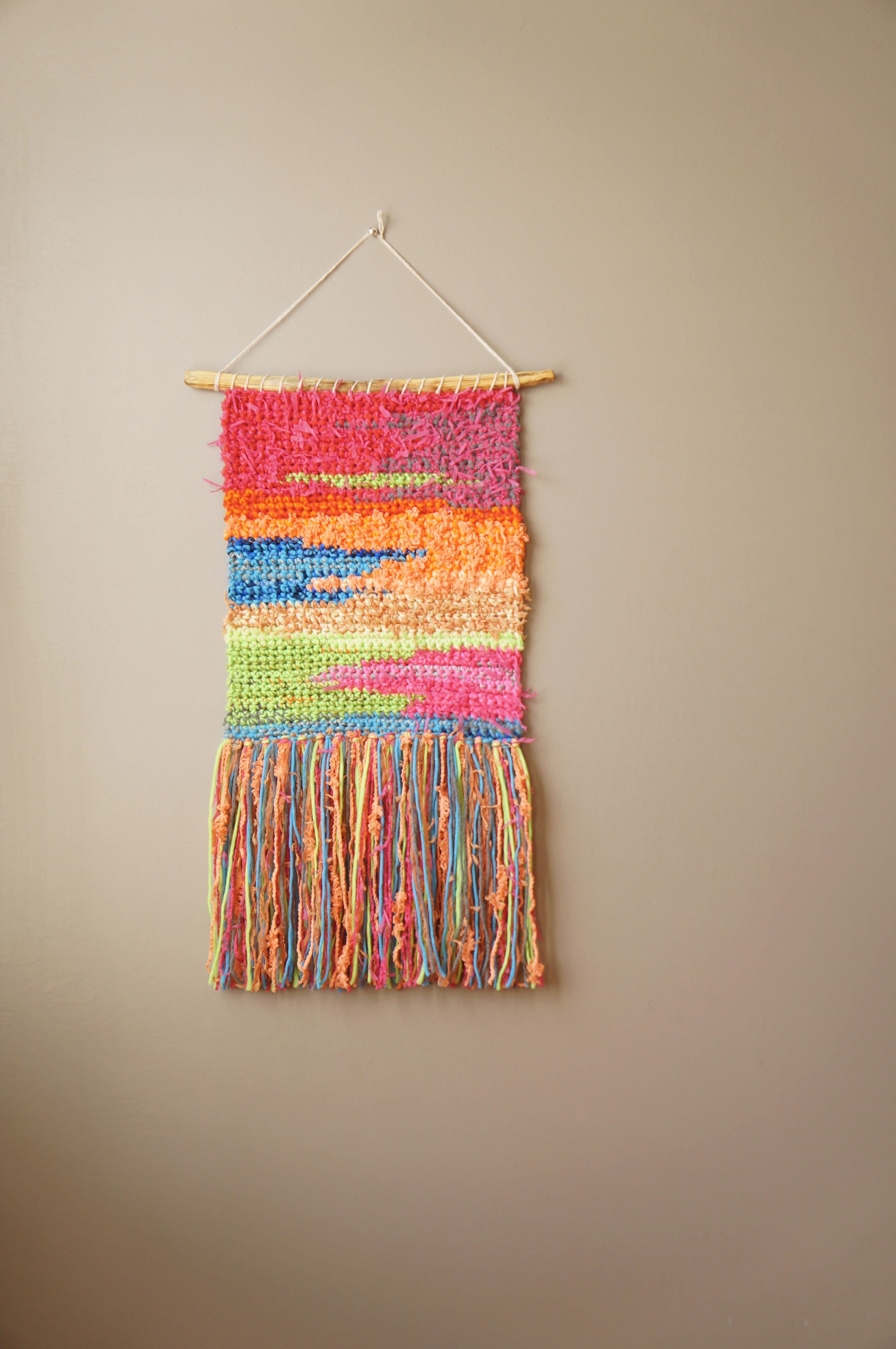Sunset Series Inspired Modern Tapestry Wall Hanging By Lemon Cucullu