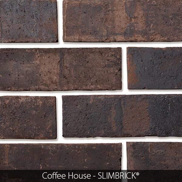 Unique Real Brick Thin Tile In Rich Brown Coffeee House