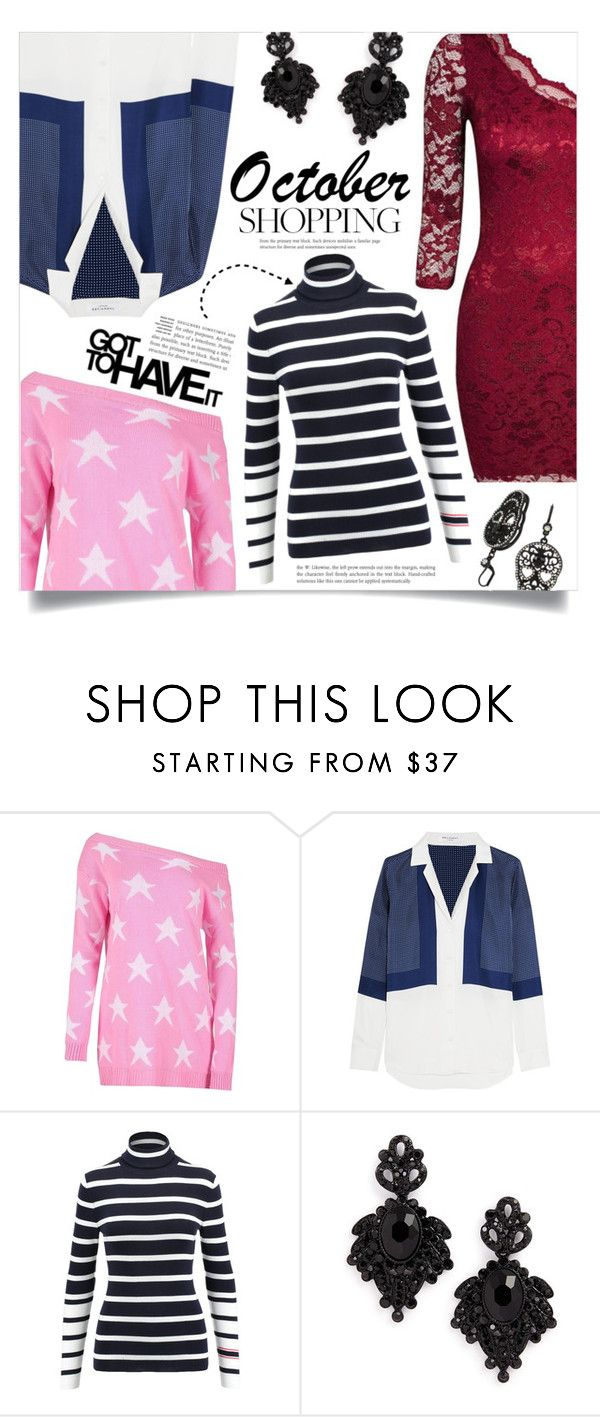 """""""Throwback Thursday -Must have's October"""" by dolly-valkyrie ❤ liked on Polyvore featuring Equipment, Tasha, Betsey Johnson, ThrowbackThursday, tbt and october"""