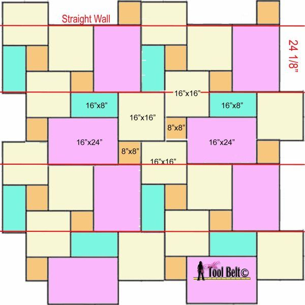 Travertine Versailles Pattern Tile Tutorial Her Tool Belt Versailles Pattern Tile Patterns Floor Pattern Design