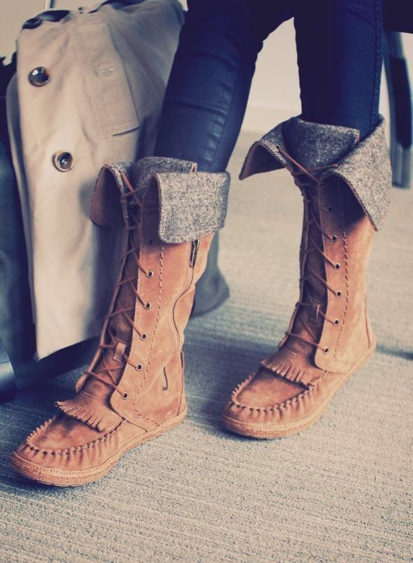 Boho ugg boots, pure leather brown in