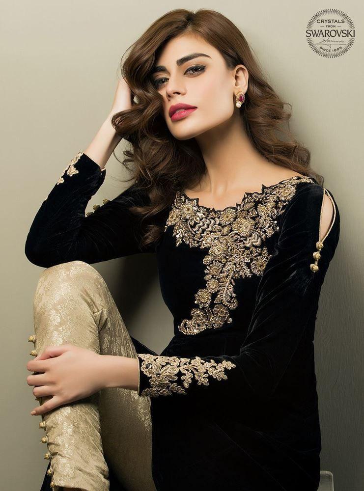 b57b4926d012 Pakistani and Indian Party wear black dress