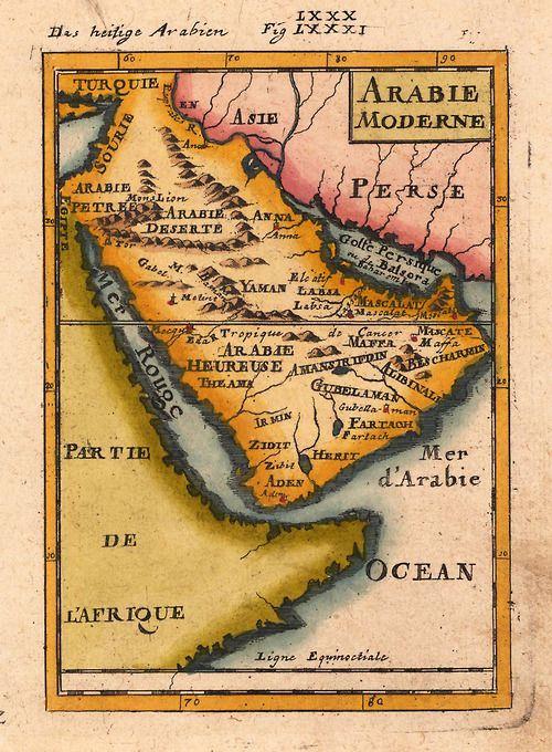 Map of Arabia 1719