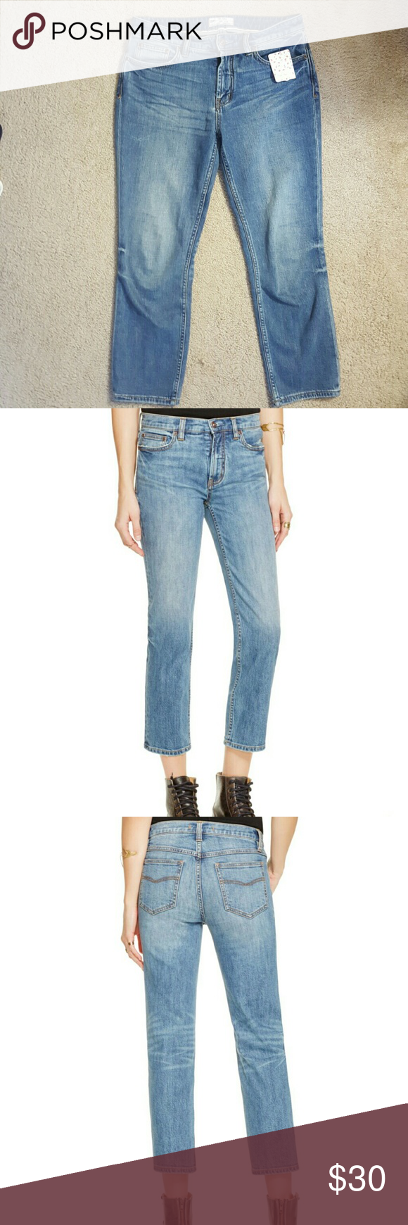 Free people jeans in harbor Brand new. Super soft! Free People Jeans Ankle & Cropped