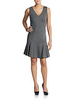 DIANE VON FURSTENBERG Carla Dropped-Waist Dress. #dianevonfurstenberg #cloth #dress