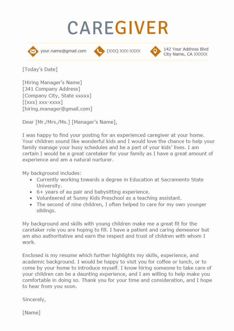 23 Resume Examples For Caregiver Skills In 2020 Cover Letter For
