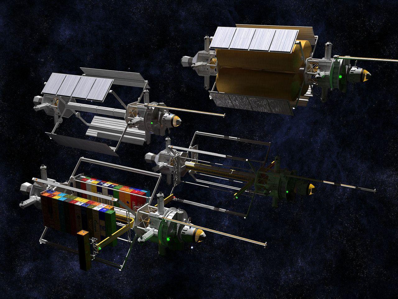 Flock of Tenders Redux by Reactor-Axe-Man | Realistic Spaceships
