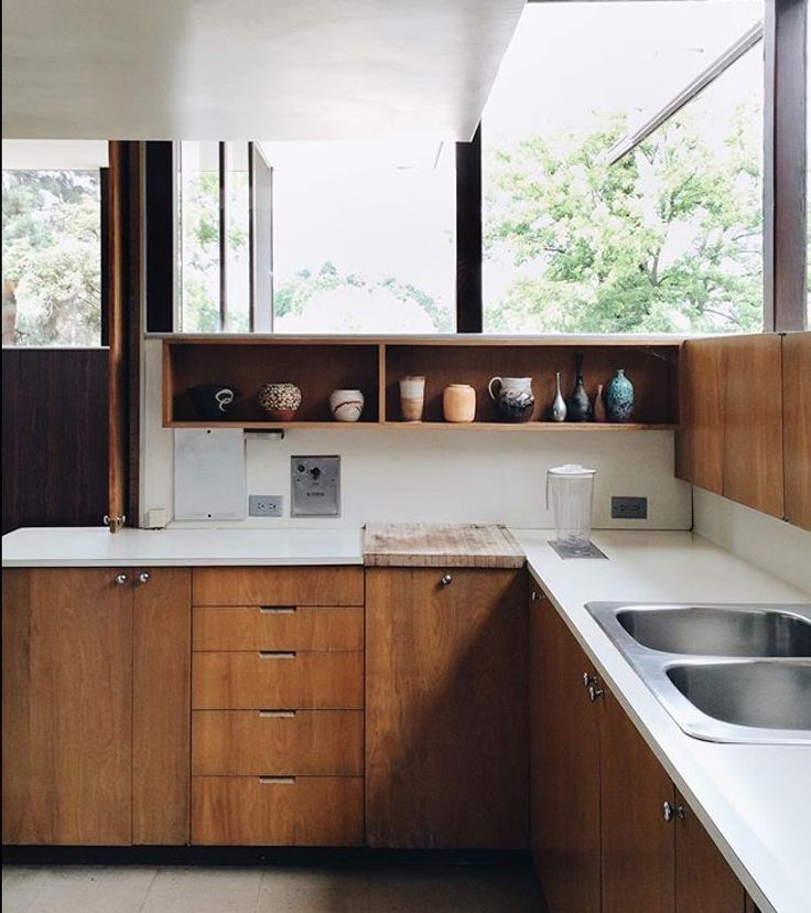 Kitchen Cabinet Height Above Sink: Windows Over Cabinets And Then Full Height Window In Front Of Sink
