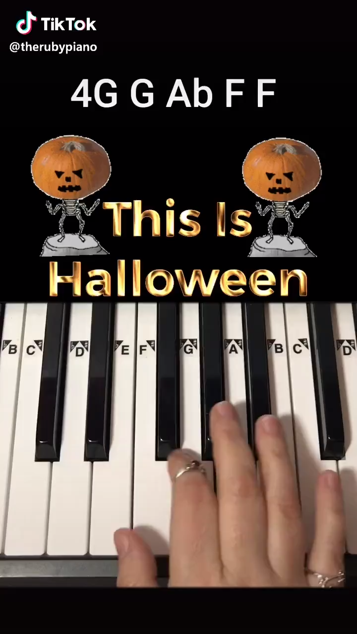 This Is Halloween Piano Tutorial