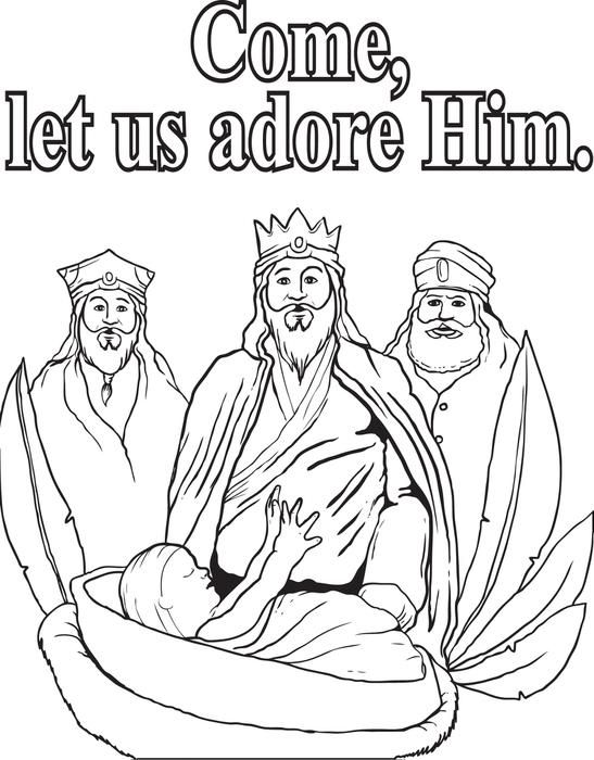 FREE Printable Three Wise Men Coloring Page for Kids | Reyes Magos ...