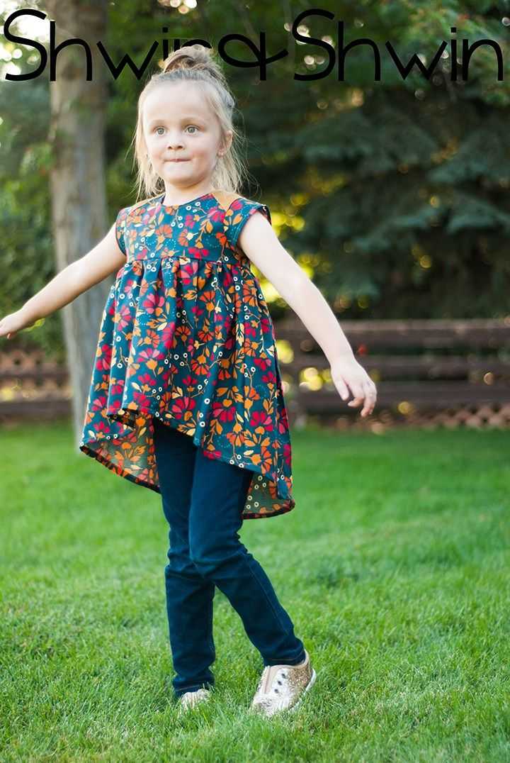 Modern Baby Doll Top || Free PDF Pattern || Shwin&Shwin | Sewing for ...