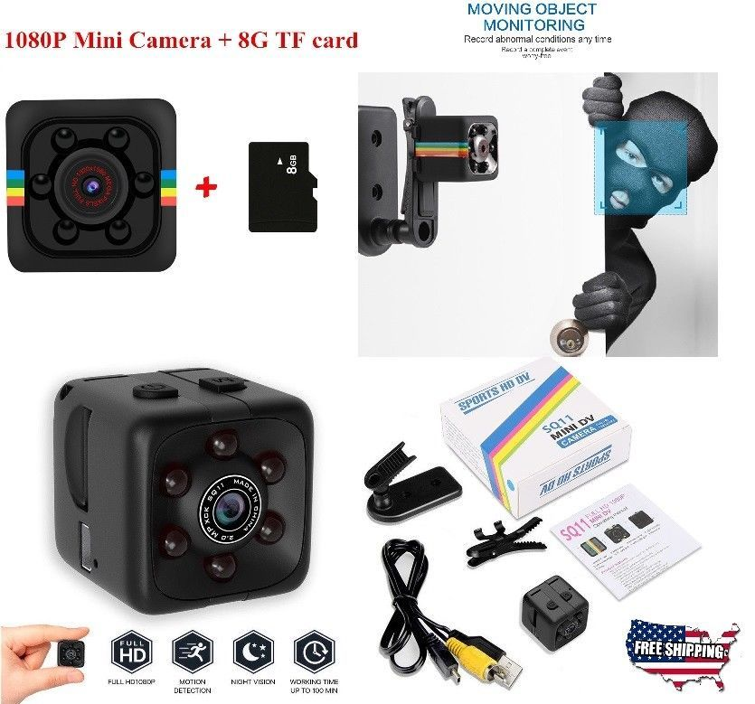 COP CAM Security Camera FHD1080 Motion Detection 32GB Card Night Vision Recorder