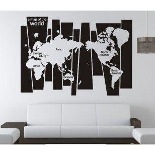 Map Of The World Office Vinyl Wall Art Decor 27 99 Worldwide Free Shipping Officedecor Walldecal Decal Wall Art Office Wall Decor Wall Stickers Australia