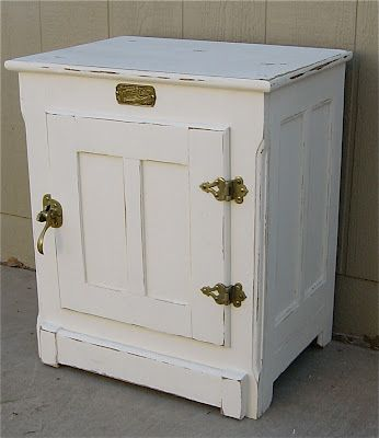 Vintage Ice Box Night Stand Vintage Ice Box Antique Ice Box Woodworking Furniture Plans