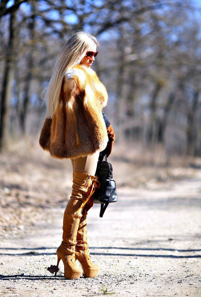 gorgeous fur and boots