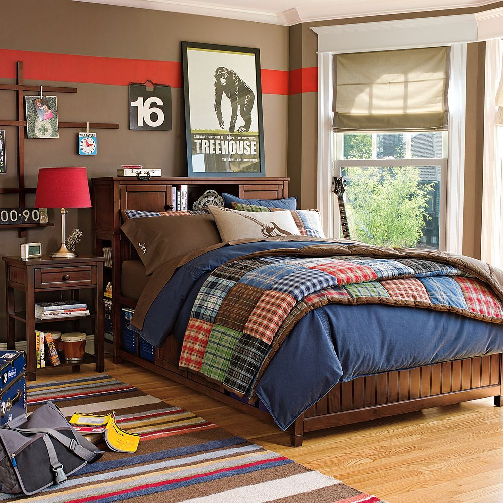 New Pottery Barn Teen Patch Plaid Quilt