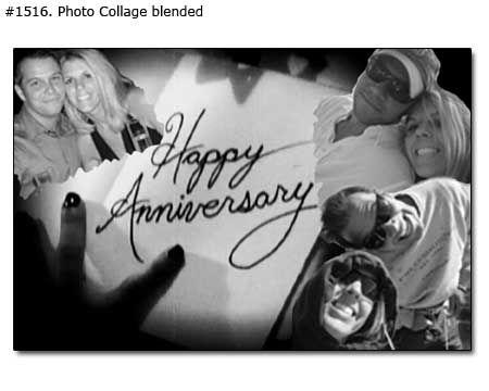 happy anniversary photo collage