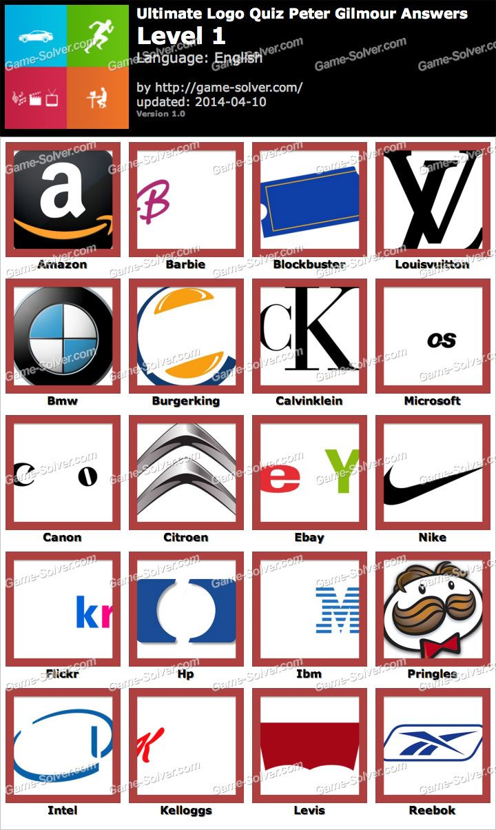Ultimate Logo Quiz Peter Gilmour Answers (With images