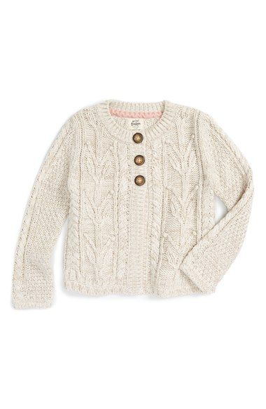 e2b8ffddf Mini Boden Cable Knit Cardigan (Toddler Girls