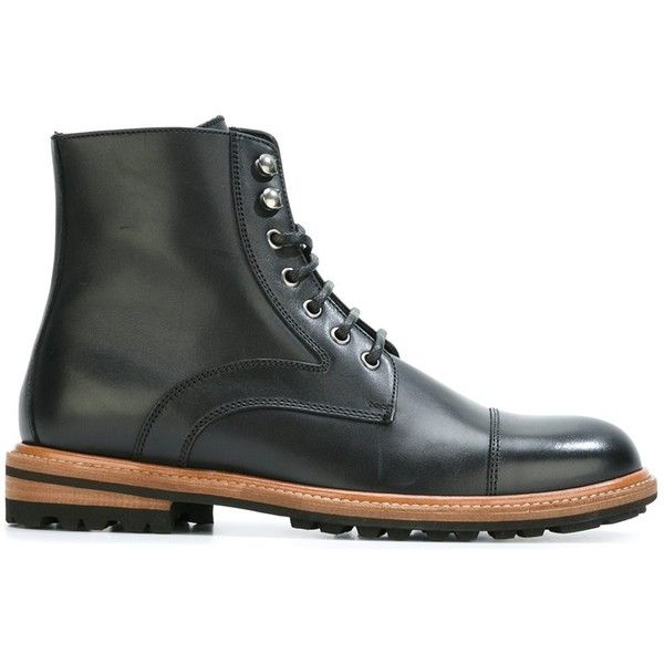 Design Mens Dolce & Gabbana Lace-Up Boots Discount