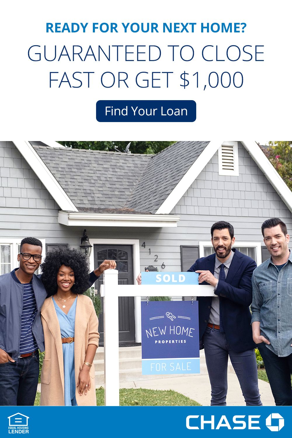 All The Fun Of Owning Your Next Home Even Faster As A Chase Customer You Re Guaranteed To Close Fast Or Get 1 00 Home Equity Next At Home Home Equity Line