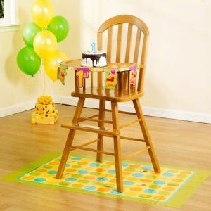 high chair decor... I don't love this, but could make my own