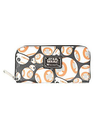 Loungefly Star Wars  The Force Awakens BB-8 Faux Leather Zipper Wallet f3ce37dd42069