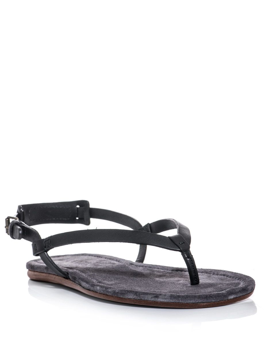 52ee550c2537 Lanvin Leather Thong Sandals in Black for Men
