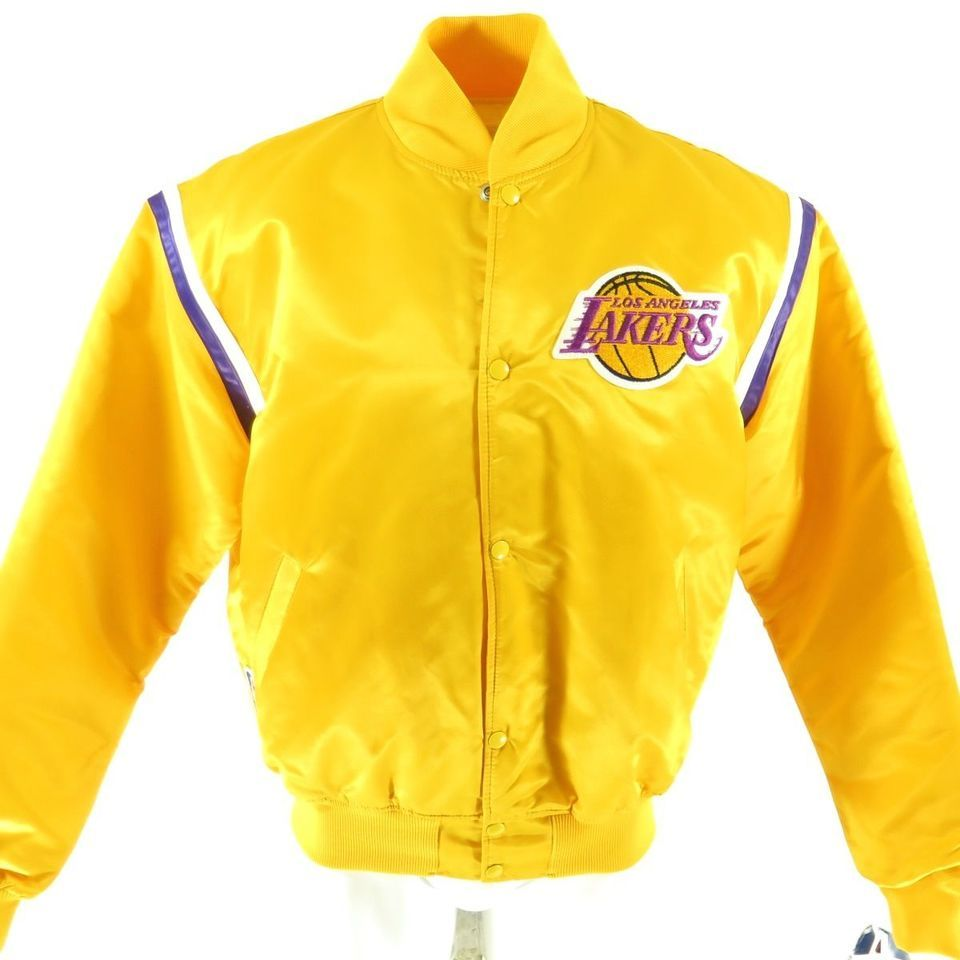 Vintage 80s Los Angeles Lakers Starter Jacket Mens Xl Deadstock Nba Basketball The Clothing Vault Vintage Sports Clothing Vintage 80s Clothing Mens Jackets