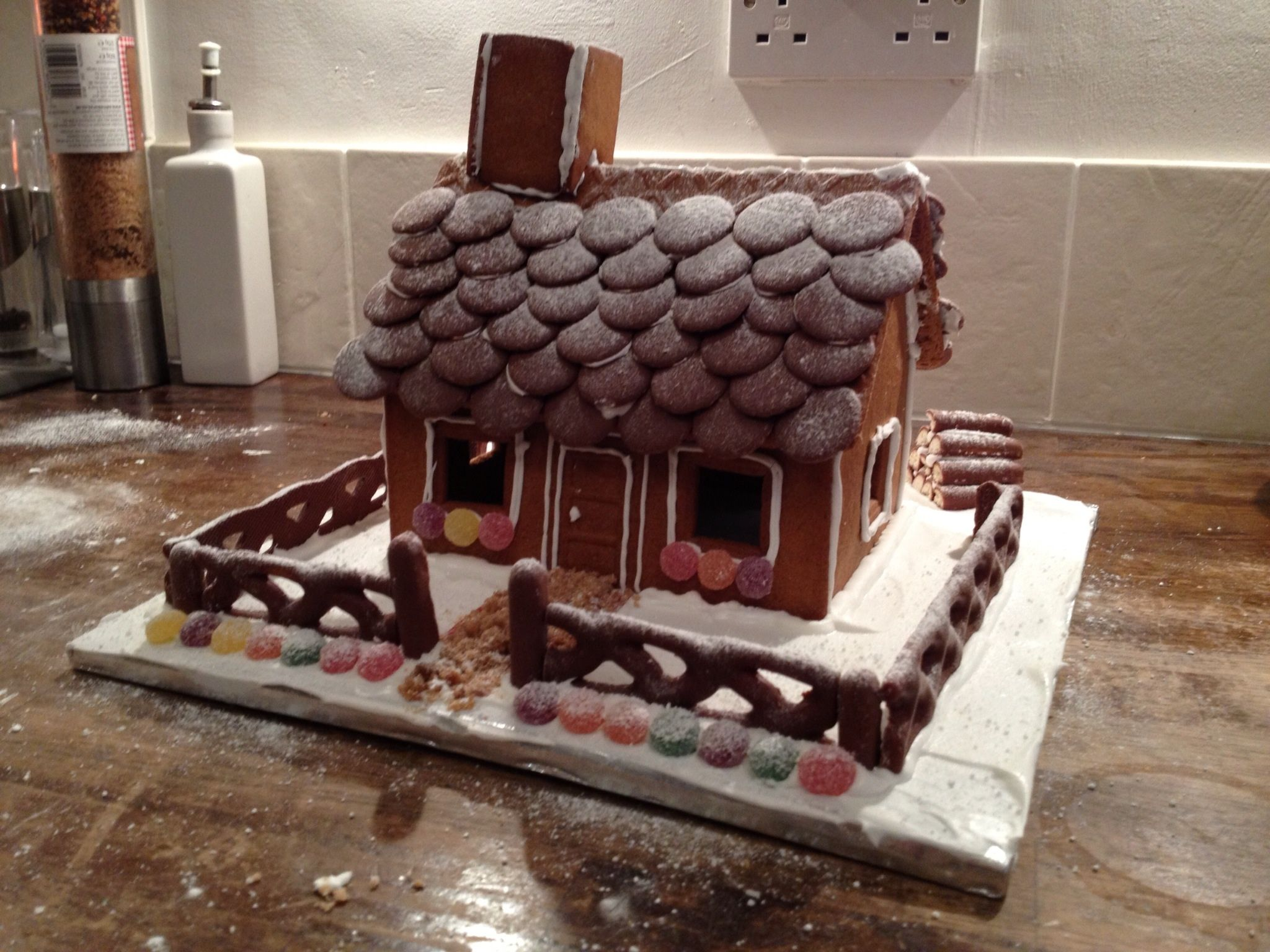 Decorated Flat Pack Ikea Gingerbread House Ikea Gingerbread House Christmas Gingerbread House Gingerbread House