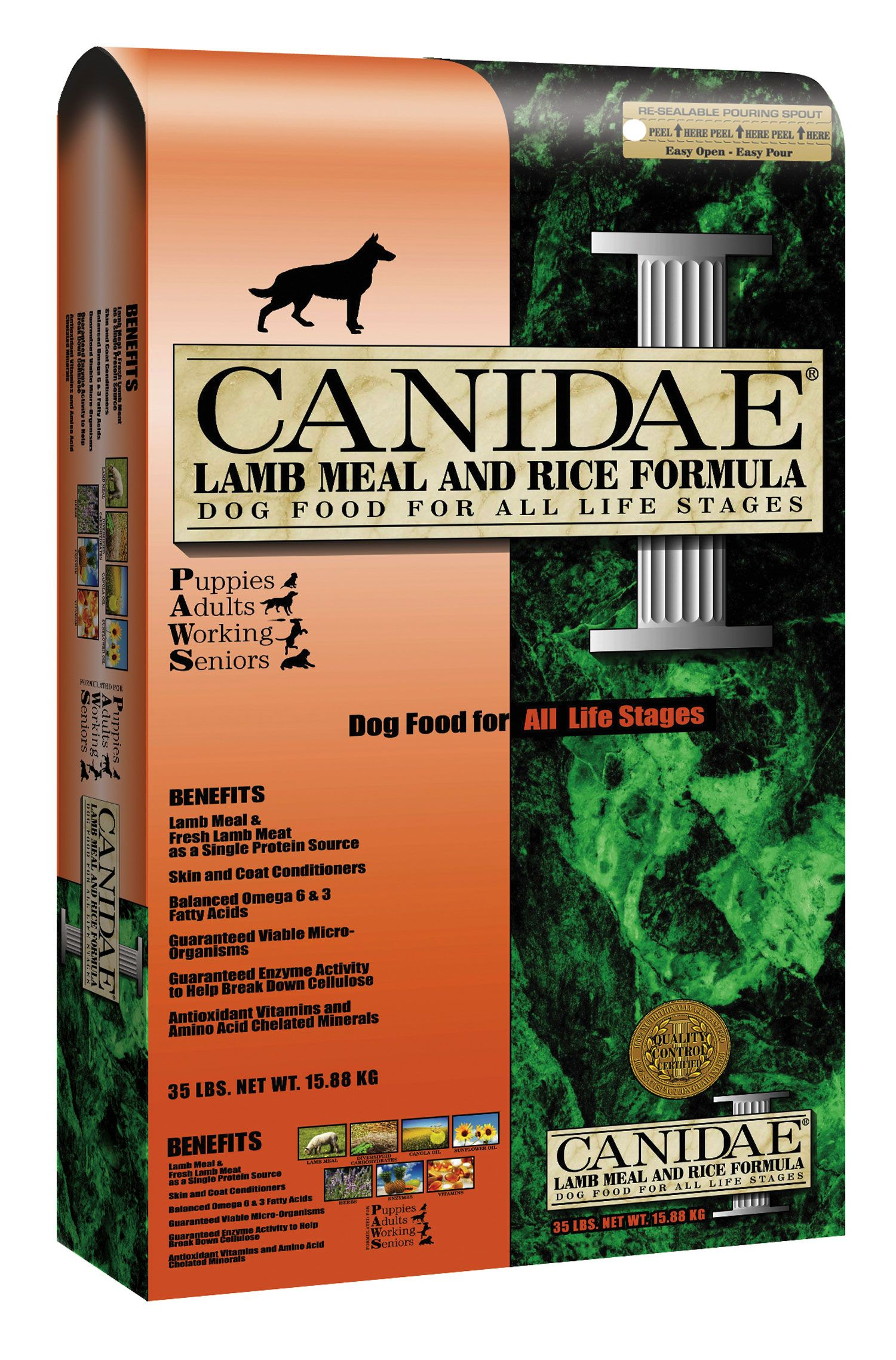 Canidae all life stages lamb meal and brown rice formula